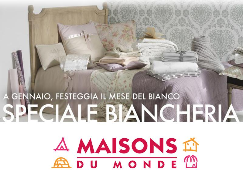 spendi bene magazine speciale biancheria maisons du monde. Black Bedroom Furniture Sets. Home Design Ideas